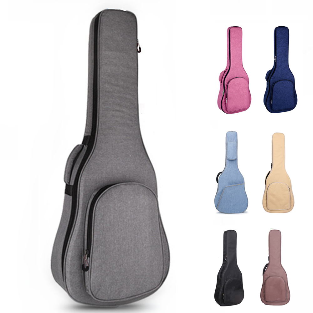 36 39 40 41 Inch Guitar Bag Carry Case Backpack Oxford Acoustic Folk Guitar Big Bag Cover with Double Shoulder Straps(China)