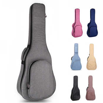 36 39 40 41 Inch Guitar Bag Carry Case Backpack Oxford Acoustic Folk Guitar Big Bag Cover with Double Shoulder Straps - DISCOUNT ITEM  42 OFF Sports & Entertainment