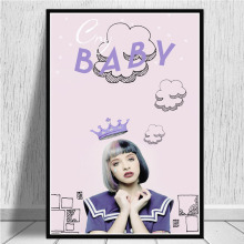 Fashion canvas poster Melanie Martinez picture singer star modern family living room bedroom wall decoration