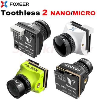 Foxeer bezzębny 2 kamera NANO MICRO FPV 1 7mm 1 8mm 2 1mm Standard StarLight 1200TVL PAL NTSC 4 3 16 9 FPV OSD pełna kamera pogodowa tanie i dobre opinie SPARKHOBBY CN (pochodzenie) Materiał kompozytowy Toothless 2 Nano Micro Samoloty MONTAŻ