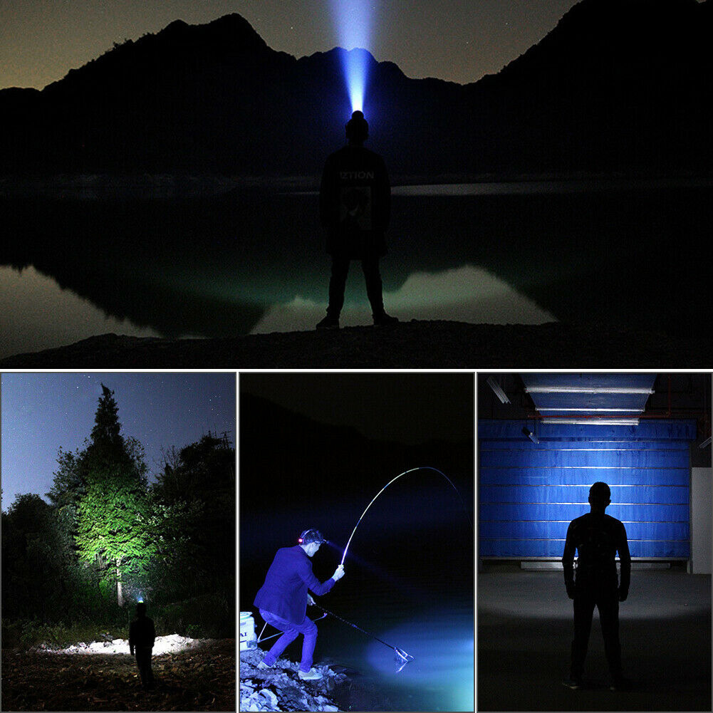 6 Led Camping USB Rechargeable Bright Head Lamp Battery Display Clip On Hat