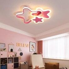 Luz de teto led para o quarto das crianças moderno pentagrama meninos meninas quarto pendurado lâmpadas branco rosa berçário crianças iluminação para casa