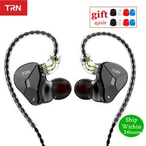 Image 1 - Newest TRN BA5 10BA Earphone 5 Balanced Armature HIFI Monitor Sport Metal Headset Detachable Cable TRN V90 V80 ZSX C12 AS10 ZS10