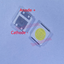 500 teile/los SMD LED 3030 3V 1,8 W Kalt weiß High Power Für TV Hintergrundbeleuchtung Anwendung 3.0*3.0*0,6mm