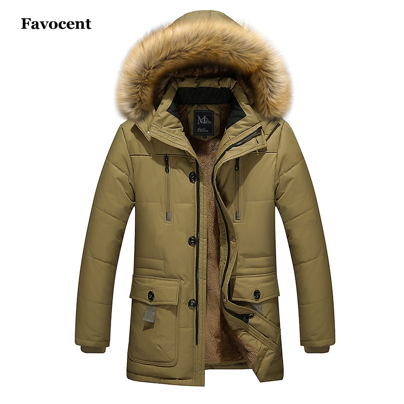 New Fashion Winter Jacket Men Warm Coat Casual Parka Medium-Long Thickening Coat Wool Liner Fur Hat Detachable Parkas Men M-5XL
