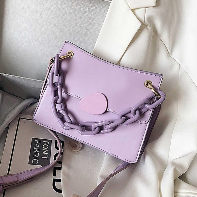 Women Crossbody Leather Shoulder Bag PU Buckle Chain Small Handbags Cross body