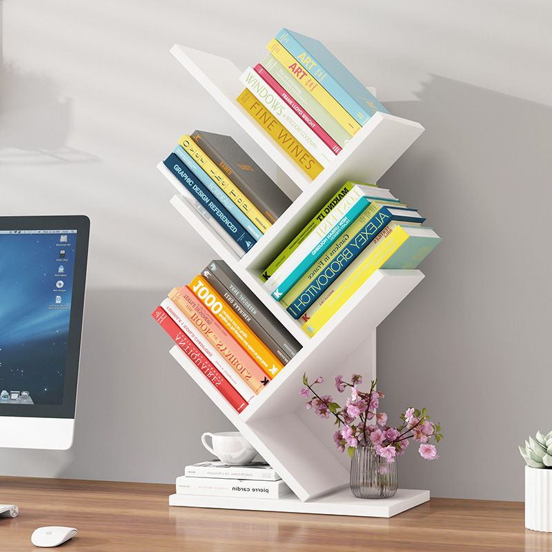 Simplicity Small Bookcase Storage Shelf Table For Student Simple Floor Assembly Desktop Small Bookcase Creative Storage