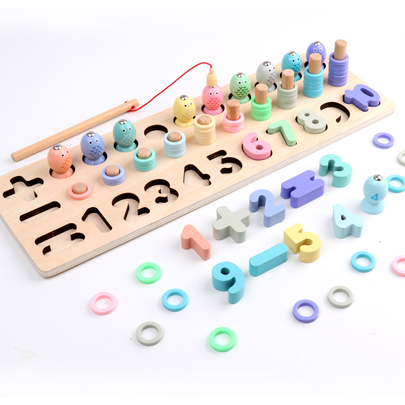 Intelligence Development Early Enlightenment and Education Puzzle Toys for Children Kids Educational Toys Wooden Toys