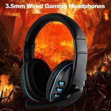 3.5 Mm Wired Gaming Hoofdtelefoon Stereo Surround Sound Over Ear Game Headset Oortelefoon Met Microfoon Voor Pc Laptop Xbox Een PS4(China)