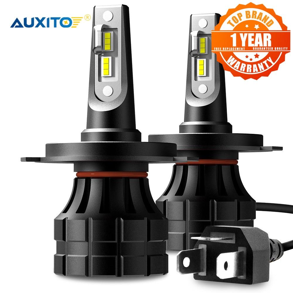 2x led turbo h7 auxito h4 super lampadas de farol de carro h13 h8 h11 9005