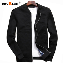 Covrlge 2019 Jacket men Jackets Spring Autumn Fashion Slim Men Thin Brand Casual Coat Top Quality MWJ163