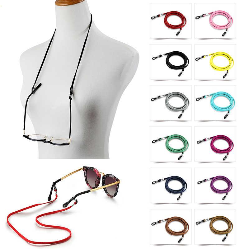 Красочные кожаные очки цепочка для очков ремешок ожерелье замша шнур с цепочкой
