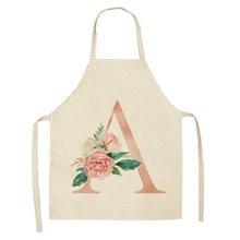Фартук с цветами Женский кухонные хлопковые и льняные нагрудники