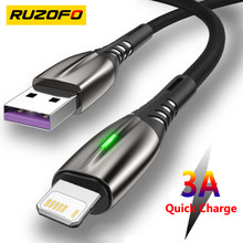RUZOFO USB Cable For iPhone 12 11 Pro Max X XR XS 8 7 6 6s 5s iPad Fast Data Charging Charger USB Wire Cord Mobile Phone Cables