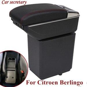 Автомобильный регистратор для Citroen Berlingo, подлокотник для peugeot Partner 2014, автомобильные аксессуары, оригинальная ручная коробка, двойной слой, з...
