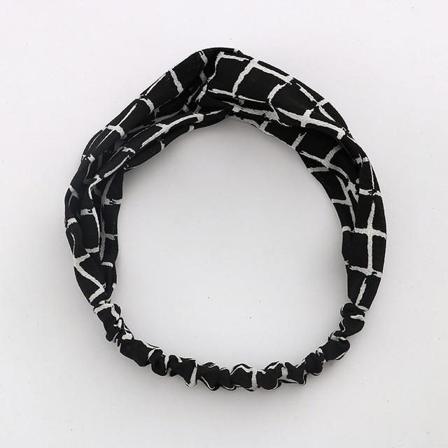 Women Girls Summer  Boho Hair Bands Print Headbands Vintage Cross Turban Bandage Bandanas HairBands Hair Accessories Gift