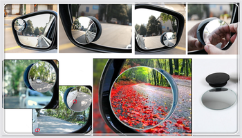 Car borderless small round blind spot mirror For BMW E53 E70 X5 X3 X6 M M3 M5 image