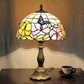 Тиффани Сад Роза кровать затемнения небольшая настольная лампа спальня кабинет бар кофе магазин украшения освещение