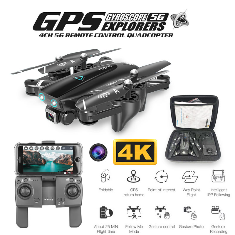 ZWN Z36 GPS Quadcopter With 720P 1080P 4K HD Camera Rc Helicopter GPS Fixed Point WIFI FPV Drone Follow Me Mode vs SG900-S E520S image