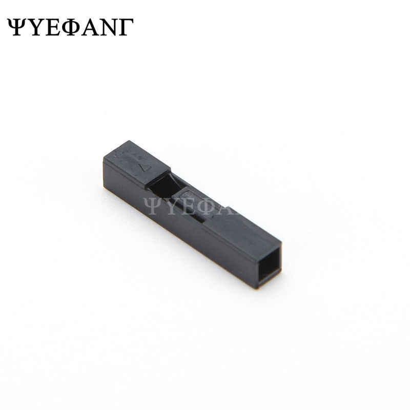 100pcs 2.54mm 1Pin פלסטיק דופונט מעטפת ראש תקע דופונט פין שיכון כותרת מגשר חוט מחבר