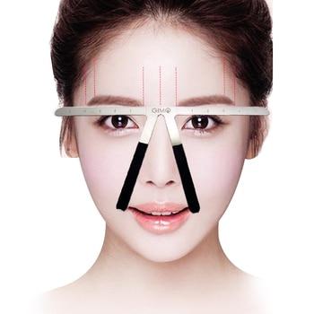 2Pcs Professional Eyebrow Balance Ruler Makeup Accessories Eyebrow Guide Ruler Reusable Semi Permanent Eyebrow Ruler Stencil