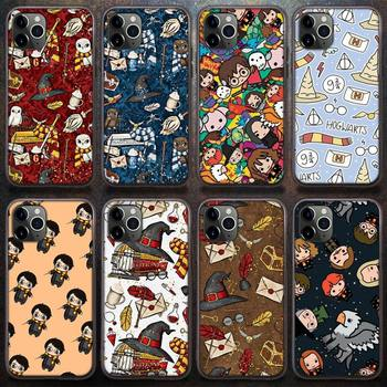 Cartoon Movie Harries Potters Phone Case for iPhone 8 7 6 6S Plus X 5S SE 2020 XR 11 12 Pro mini pro XS MAX image
