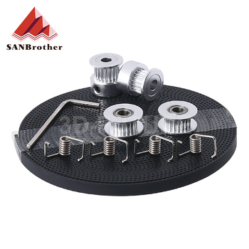 3D Printer Parts GT2 Pulley 20 Teeth Bore 5mm GT2 6mm Timing Belt & 2X Idler 4X Tensioner for 3D printer kit gt2 timing belt pulley 6mm bandwidth gt2 16 tooth 20 teeth bore 5mm 6mm 6 35mm 8mm inner hole diameter pulley 3d printer parts