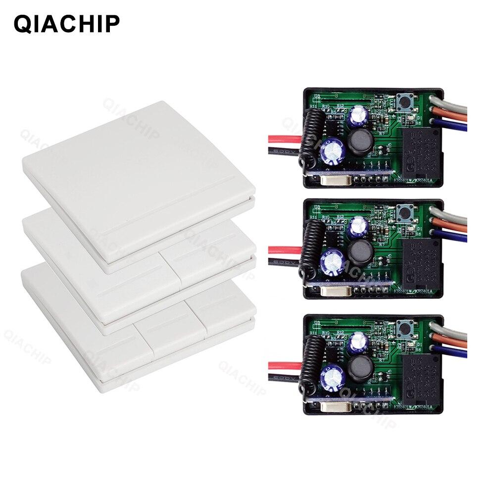 Пульт дистанционного управления QIACHIP, 433 МГц, 86 Тип, портативный беспроводной переключатель, светильник постоянного тока, 6 В, 24 В, 30 в, приемни...