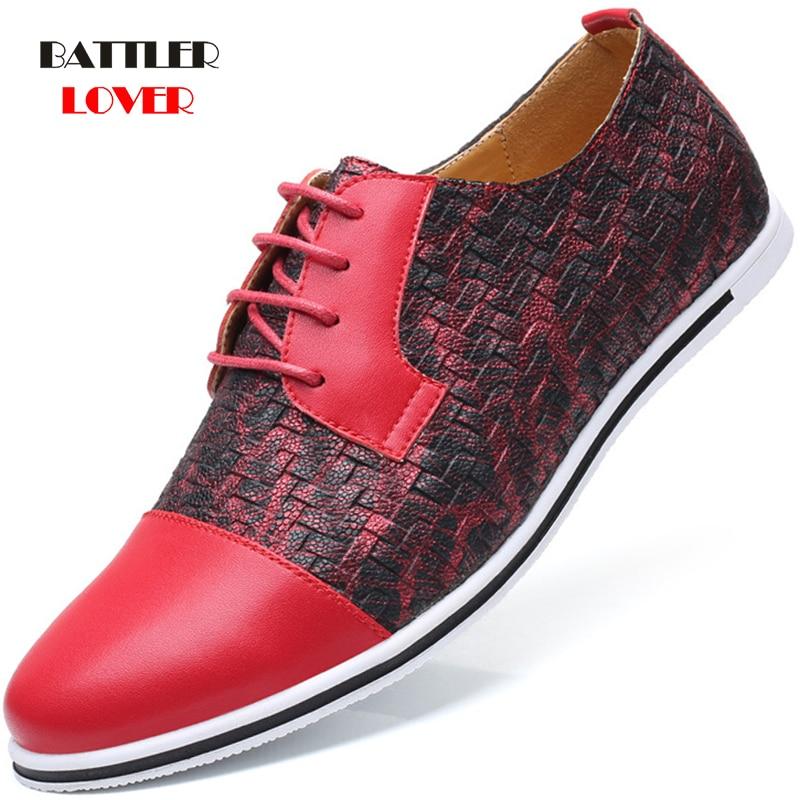 Brand Men Shoes Top Quality Oxfords British Style Men Weave Leather Dress Shoes Business Formal Shoes Men Flats Plus Size 38-48
