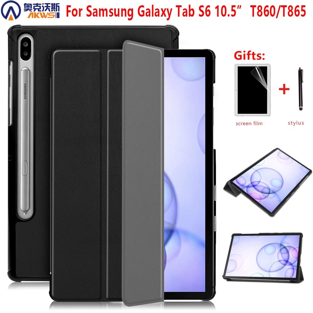 Étui pour samsung Galaxy Tab S6 10.5 SM-T860 SM-T865 2019 10.5 tablette Smart support couverture pour Galaxy Tab S6 10.5 étui