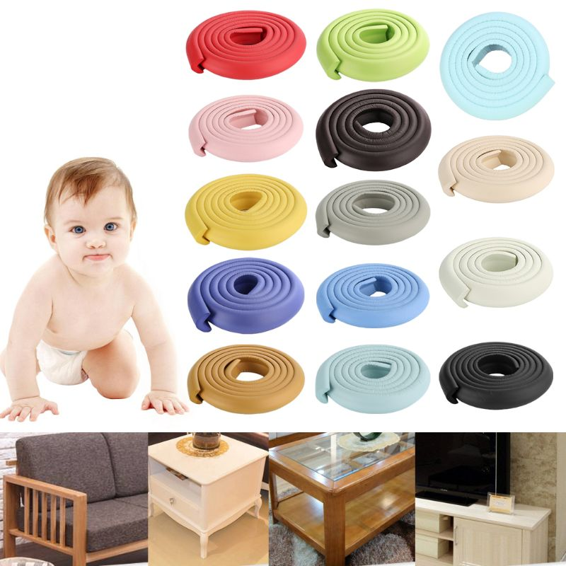 2m Baby Safety Corner Desk Guard Rubber Table Protection Kids L Shaped Soft Edge D08C