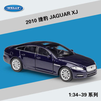 Welly 1:36 2010 JAGUAR XJ alloy car model pull-back vehicle Collect gifts Non-remote control type transport toy image