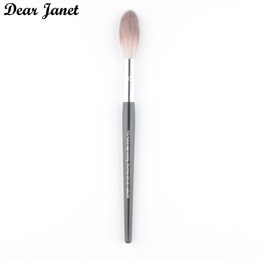 1pc Highlighter Makeup Brush #93 Pro Featherweight Blending Brush Powder Fan Cosmetic Tool Professional