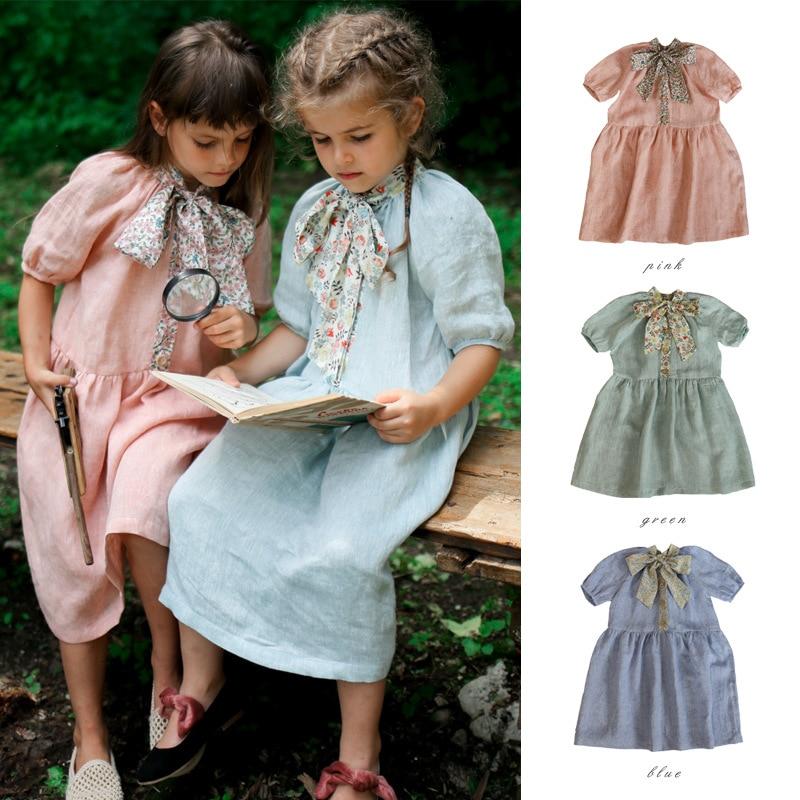 Clothes Little Girls Kids Bow Dresses Party Dresses Princess Costume Tutu Dresses Luxury Dress Girls Clothes Vestidos
