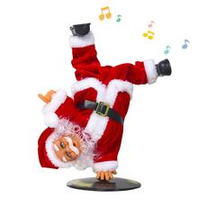 2020 New Christmas Decorations Electric Inverted Street Dance Santa Claus Music Christmas Children's Toys Ornaments Kids Toys