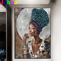Diamond painting Hot selling home art, African black woman, jewelry cross stitch diamond embroidery mosaic room Decor,