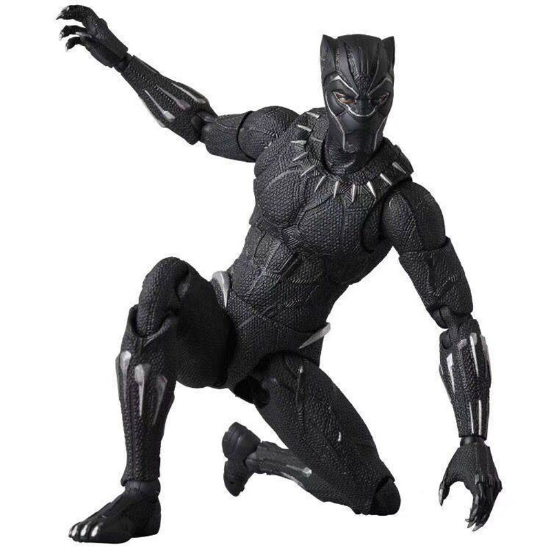 Mafex Black Panther 091 Action Figure Toy Black Panther Figure Doll Gift For kids