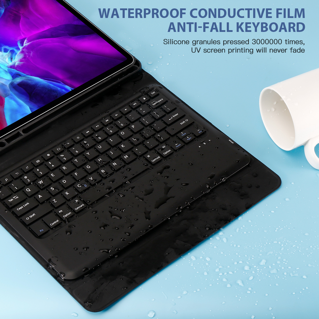 Image 5 - Keyboard Case For iPad Pro 12.9 2020 Tablet Bluetooth Keyboard  with Case Pen Holder Leather Case For iPad Pro 2020 12.9  KeyboardTablets