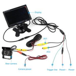 """Image 4 - JMCQ 7 """"TFT LCD Verdrahtete Auto Monitor HD Display Wired Reverse Kamera Parkplatz System Für Auto Rück Monitore Für lkw mit 2 objektiv"""