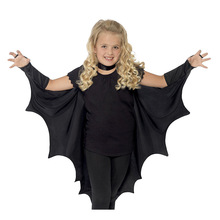New Liva girl Child Anime Cosplay Cute Bat Costume Kids Halloween Costumes For Girls Black Jumpsuit Connect Wings Batman