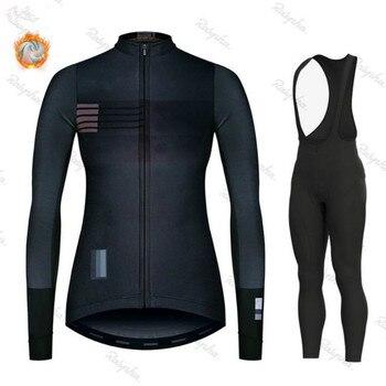 Gobikful-Conjunto de Jersey de Ciclismo para mujer Ropa de manga larga para...