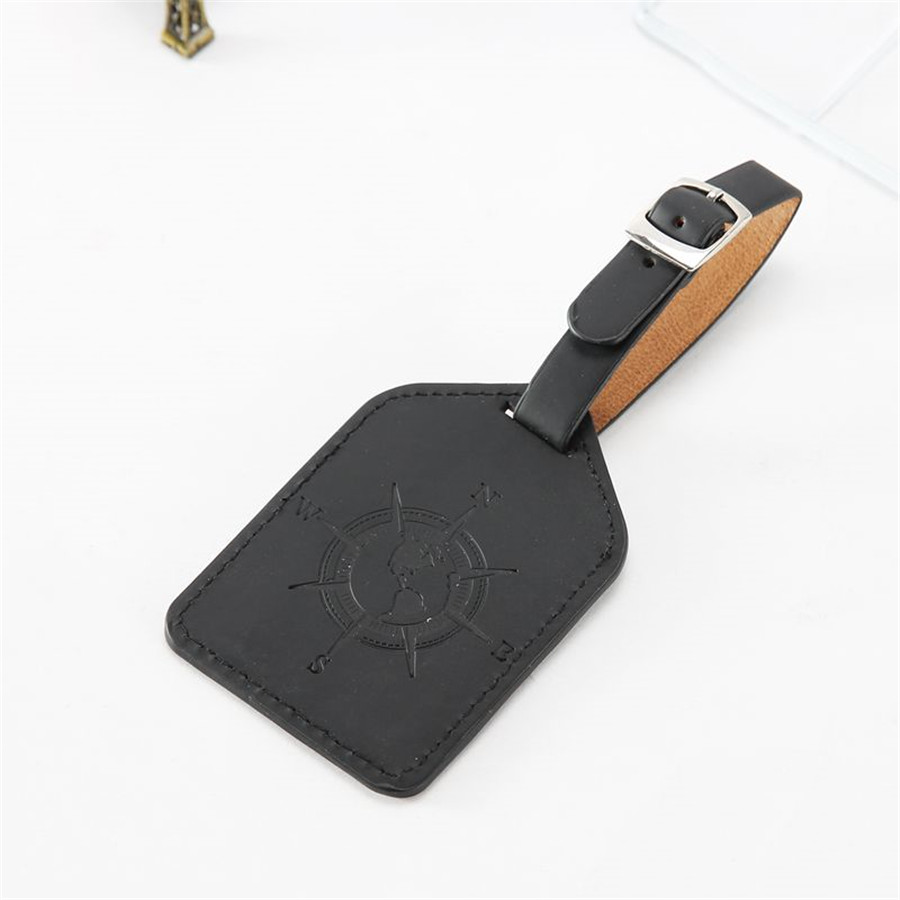 Grey Cat Luggage Tag Label Travel Bag Label With Privacy Cover Luggage Tag Leather Personalized Suitcase Tag Travel Accessories
