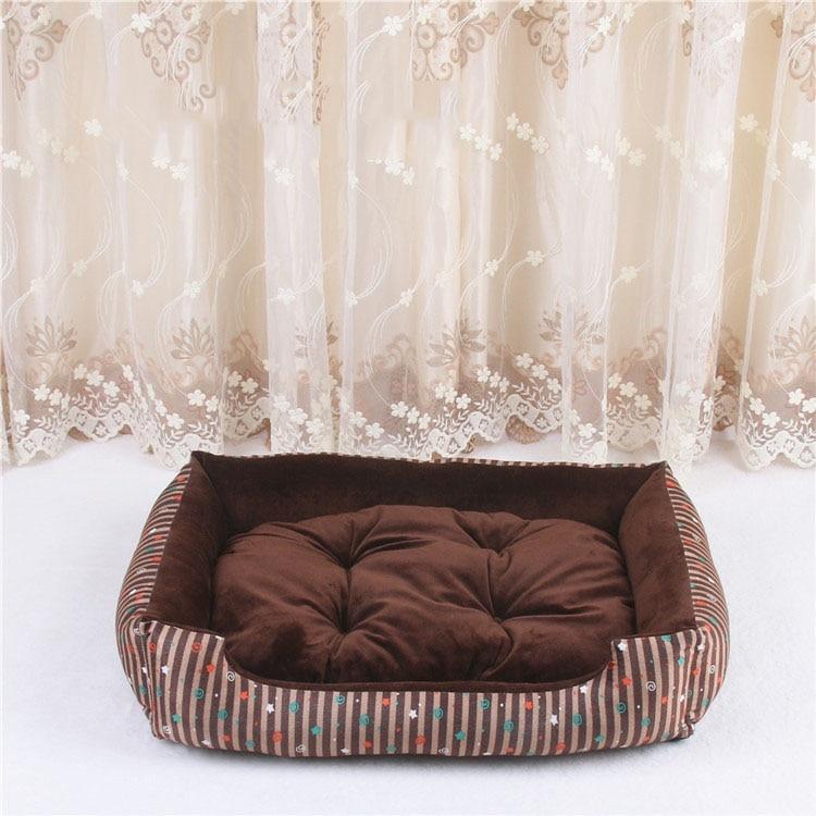 baby soft large Pet Dog Bed Cat kennel Warm Cozy Dog House Soft Fleece Nest Dog Baskets Mat Autumn Winter Waterproof Kennel 8