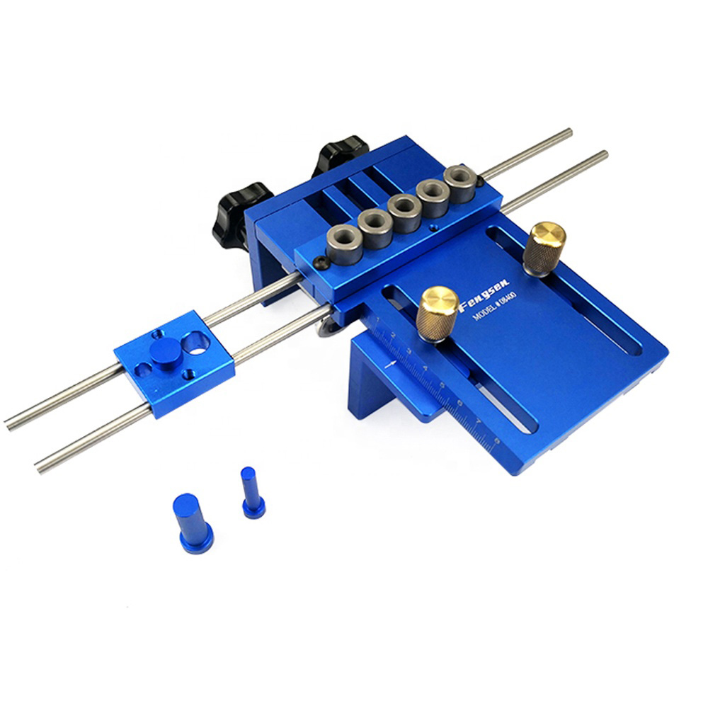 Multifunctional 5-hole woodworking hole drill locator guide locator fixture Joiner hole opener plate punching fixture