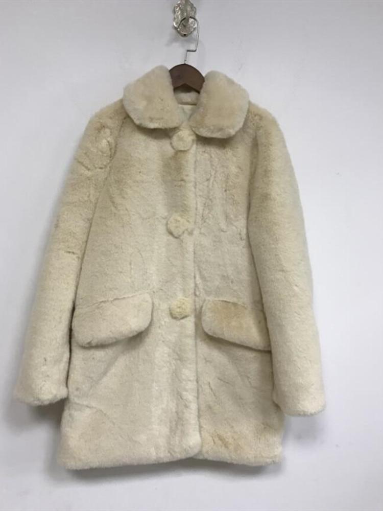 Contrat Color Edge Turn Down Bandage Waist Woolen Jacket for Autumn Double Pockets Coat