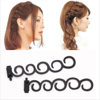 Lady French Hair Braiding Tool Weave Braider Roller Hair Twist Styling Tool DIY Accessories Plastic Loop Styling Tools TB58 1pcs diy weave braider roller hair twist styling beauty make up accessories black color fashion hair braiding braider tool