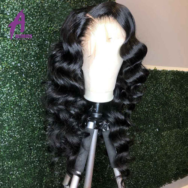 13x4 Loose Wave Lace Front Human Hair Wig 150 180 200% Brazilian Hair Lace Front Wig Preplucked Natural Hairline Alimice Remy (2)