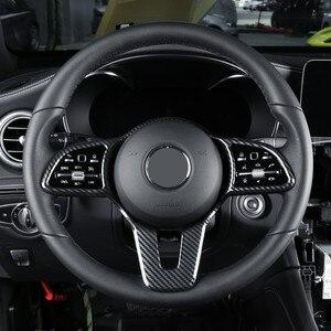 Car Steering Wheel Button Frame Sticker Trim for Mercedes Benz W177 W247 W205 W213 X247 C257 X253 W167 X167 2018 2019 2020