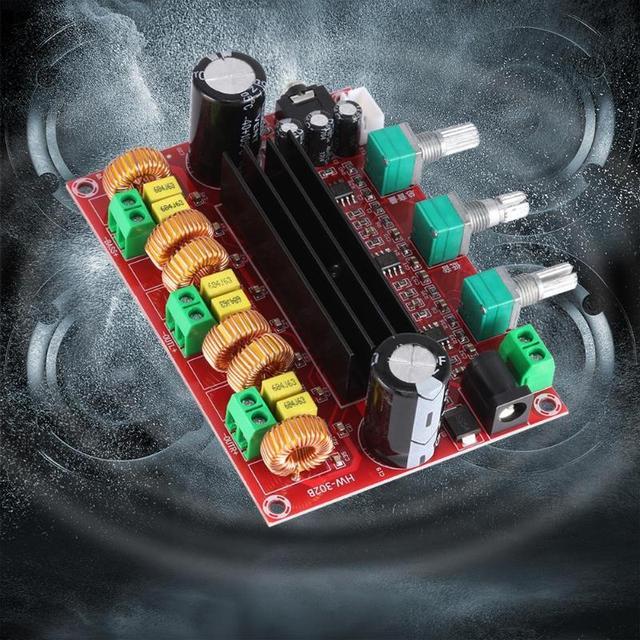 TPA3116D2 2.1 Digital Audio Amplifier Board DC 24V 80Wx2+100W Subwoofer 3 Channel Amplificador Module for 4 8 Ohm Speaker