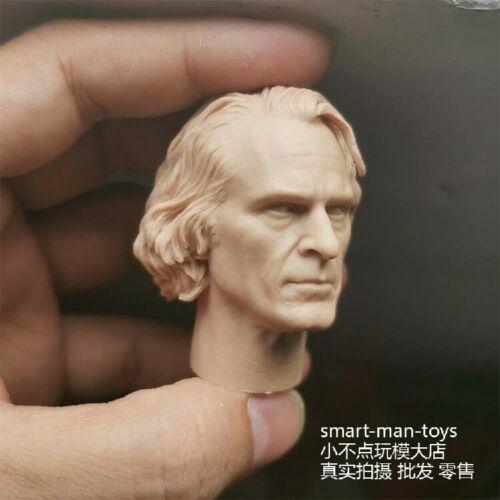 "1//6 White Model Joker Joaquin Phoenix Head Sculpt Carved F 12/"" Male Figure Toys*"